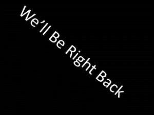 נשוב בקרוב